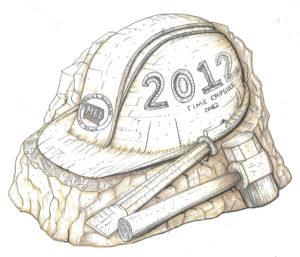 Drawing of MBI Time Capsule